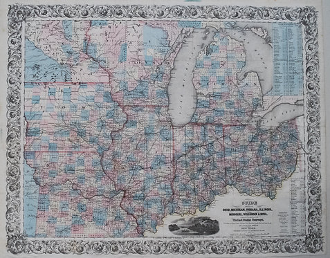 1844 Smith Map of Pre-Civil War Mid-West