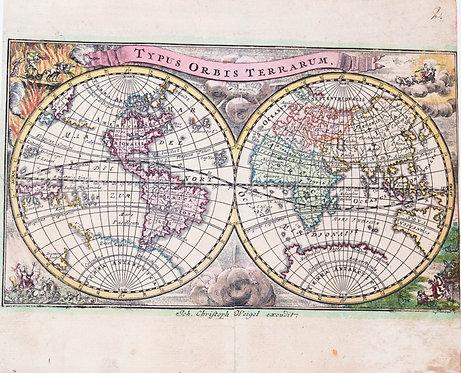 1720 Launay World Map, California as an Island