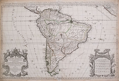 1690 Jaillot Map of South America
