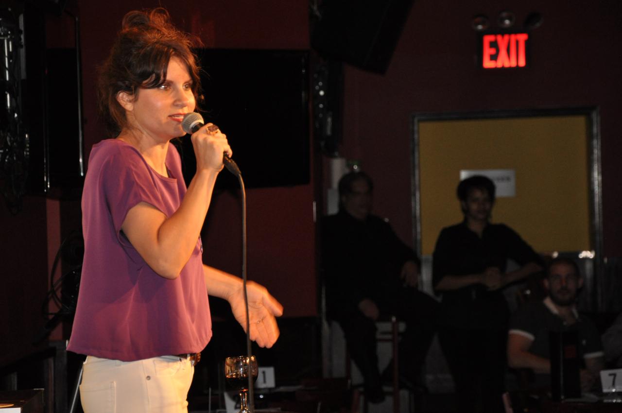 Brooke on stage