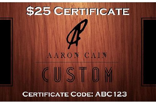 $25 Digital Gift Certificate