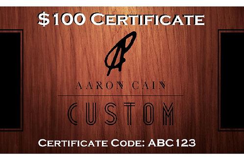 $100 Digital Gift Certificate