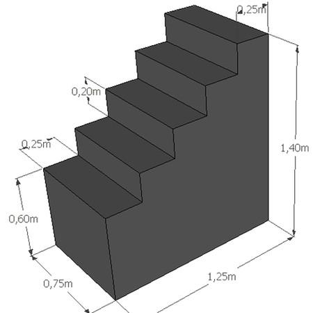 Rechte trap hoogte 140 cm