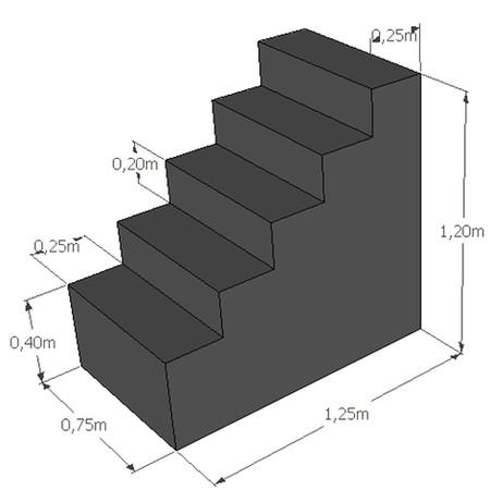 Rechte trap hoogte 120 cm