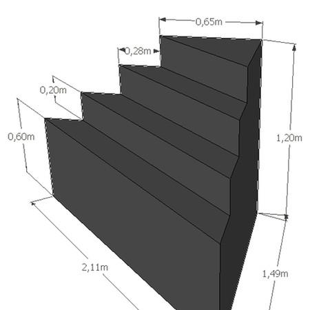 Hoektrap hoogte 120 cm