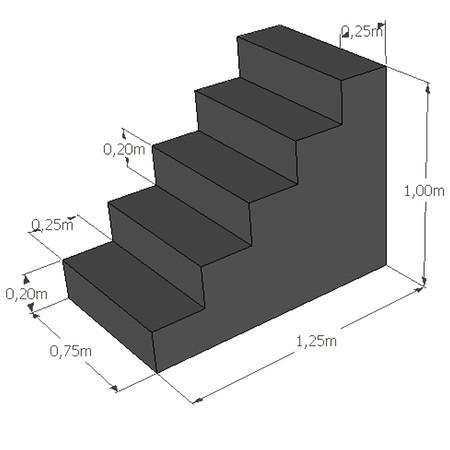 Rechte trap hoogte 100 cm