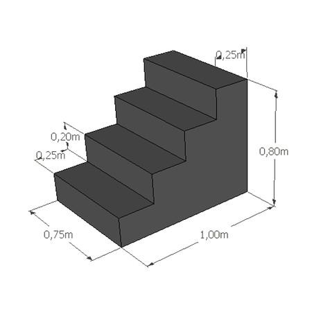 Rechte trap hoogte 80 cm