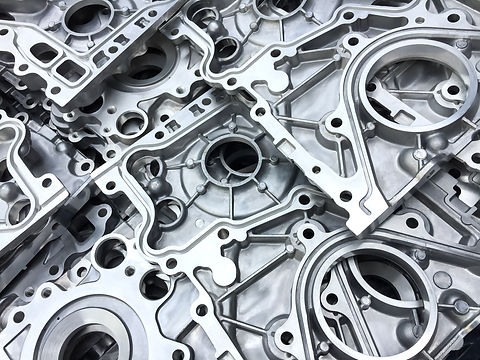 Pattern of aluminum automotive parts cov