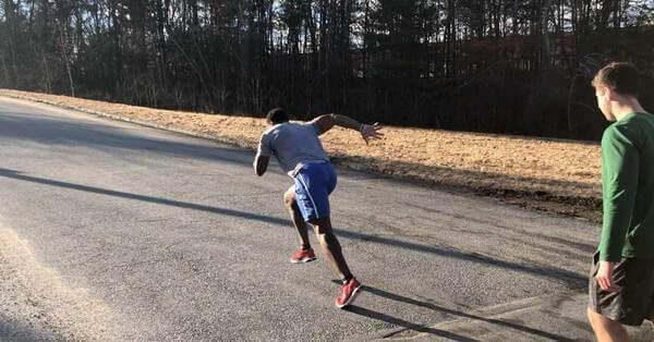 αθλητές προπόνηση sprint