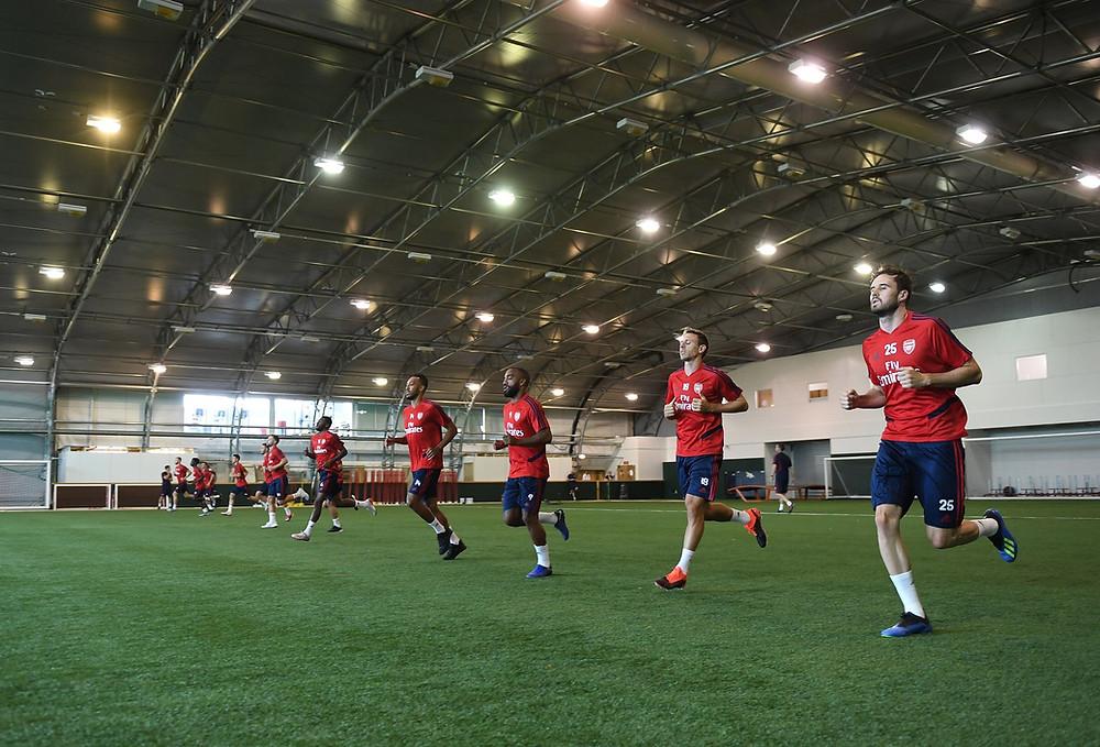 ποδοσφαιριστές προπόνηση