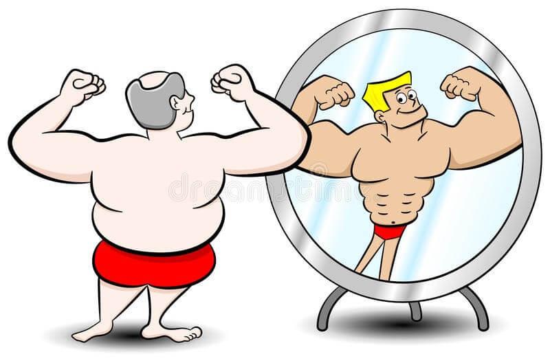 εικόνα σώματος στον καθρεφτη