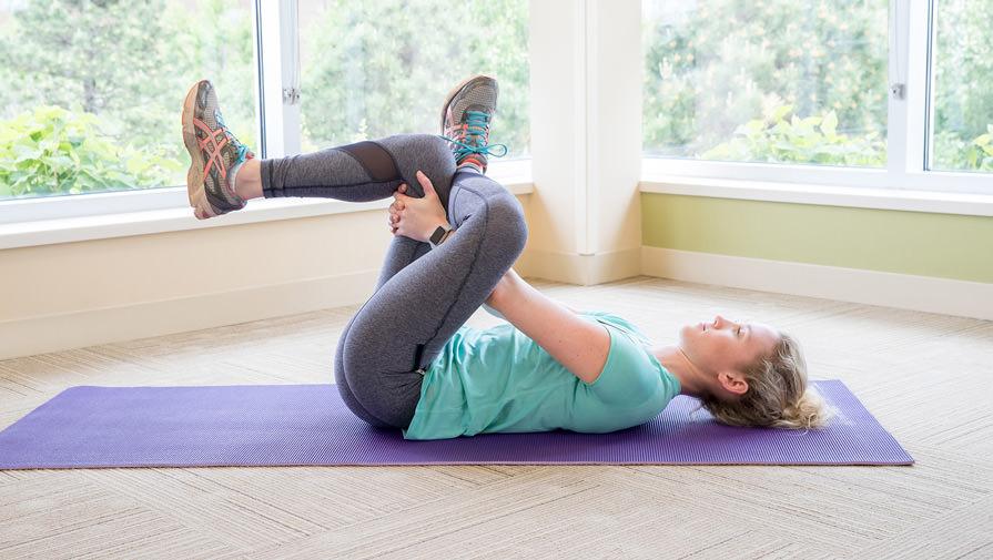Διάταση του απιοειδή μυ από ξαπλωτή θέση. ένα σημείο που συνήθως δημιουργεί μία έντονη αίσθηση