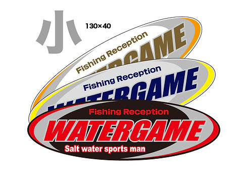 WATERGAMEステッカー 小