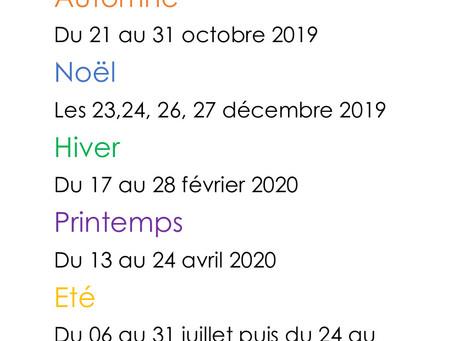 ouverture ALSH 2019-2020