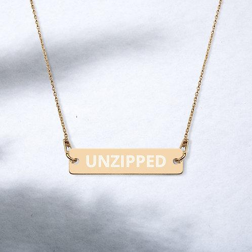 Unzipped Bar Chain Necklace