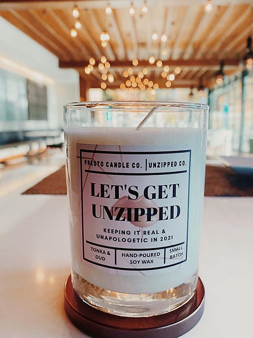 Let's Get Unzipped Candle