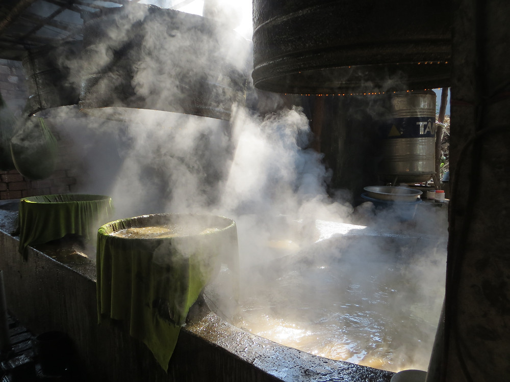 Cooking Sugar Cane Syrup