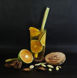 Trà đào cam sả/ Peach Orange Lemongrass Tea