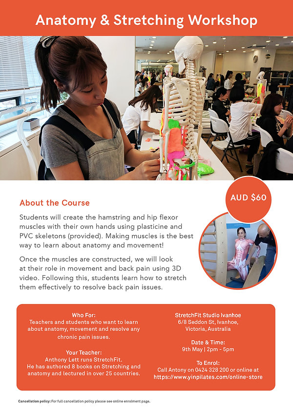 Anatomy & Stretching Workshop (Melb May