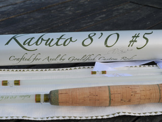 A beautiful Kabuto 8'0 5wt for Axel in Germany.