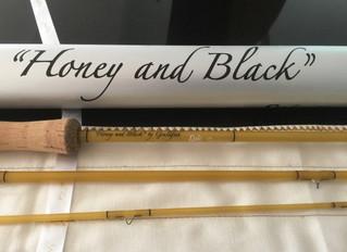 An Epic 7'6 4wt custom fly rod for Glen - Honey and Black