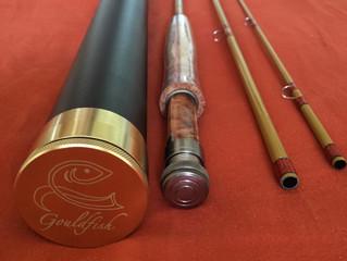 "Lone Red Star - 7'6"" 5 weight fibreglass rod"