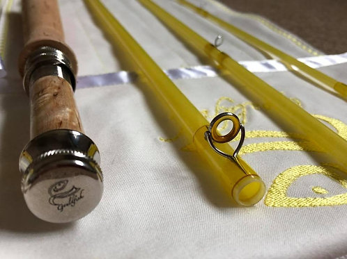10' 0 4wt 3pc Nymphing Gouldfish LemonGlass S2 Fast Glass Custom Fly Rod