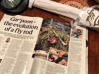 The Car'Poon features in this Month's Trout Fisherman Magazine