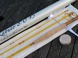 8'0 5wt Amber Kabuto Fiberglass Fly Rod built by Gouldfish for George in Pennsylvania