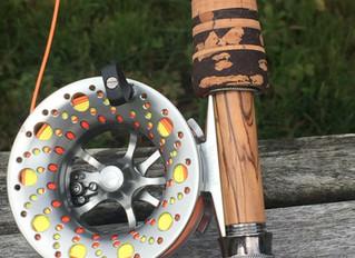 """Gouldfish LemonGlass S2 7'6"""" 4wt custom fly rod for Jim"""