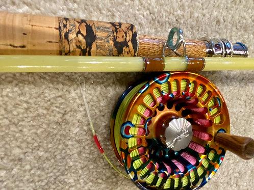 7'0 3wt 3pc Gouldfish LemonGlass S2 Fast Glass Custom Fly Rod