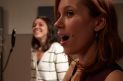 dawn singing close up studio golden