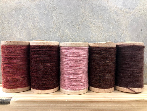 Moire Wool Threads - Reds, Pinks, Purples