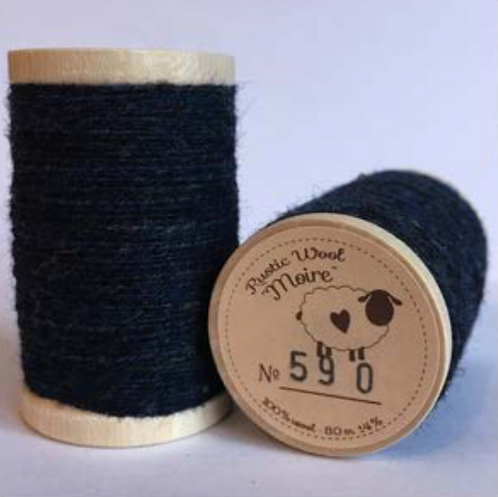 Moire Wool Threads (Blues & Greens)