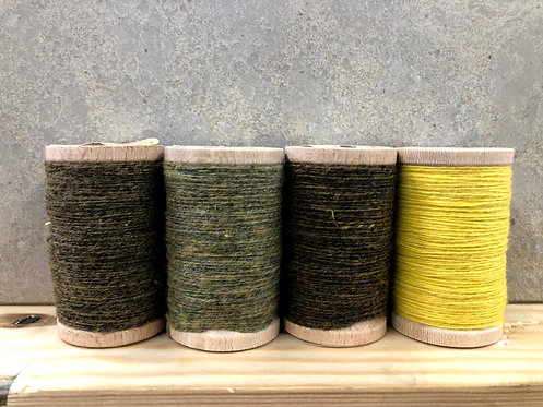 Moire Wool Threads - Greens/Yellow