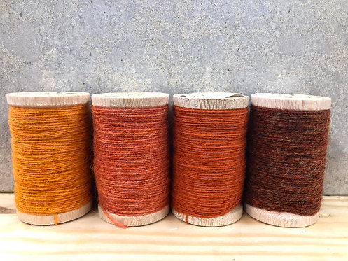 Moire Wool Threads - Oranges