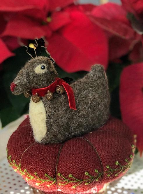 Rudolph Wool Pincushion
