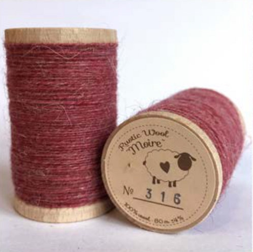 Moire Wool Threads (Pinks & Creams)