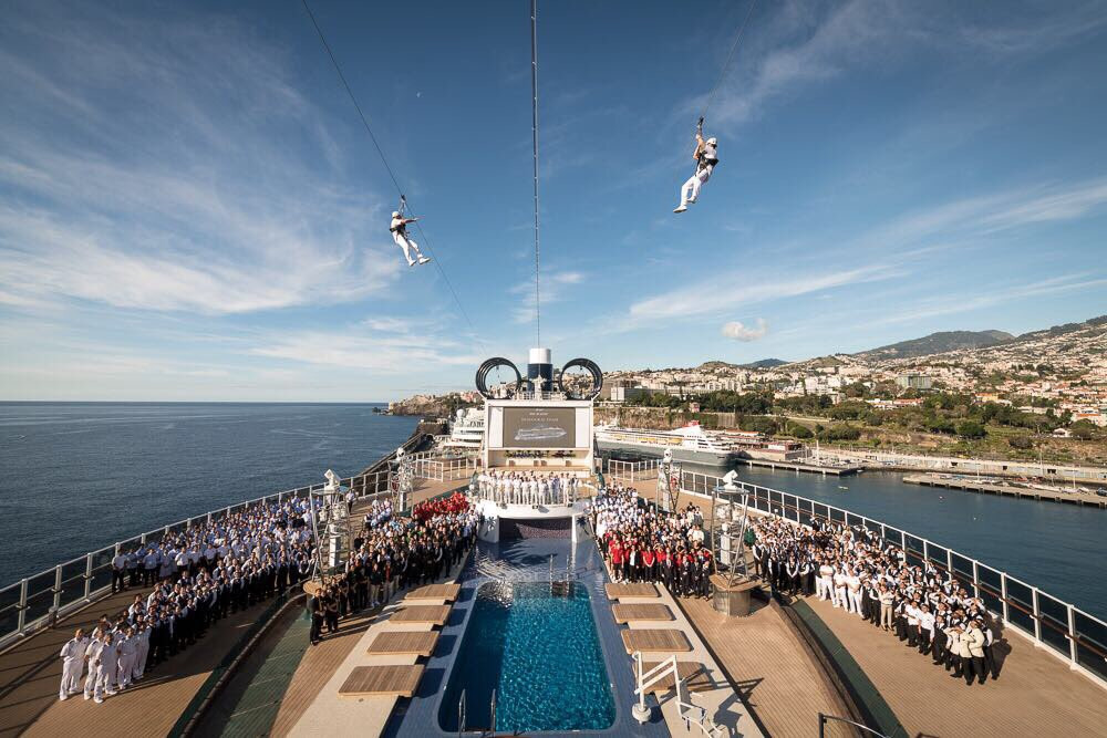 MSC Seaside Zip Line: Photo Credit MSC Cruises