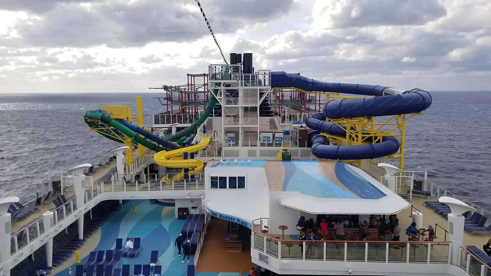 Waterslides onboard Escape