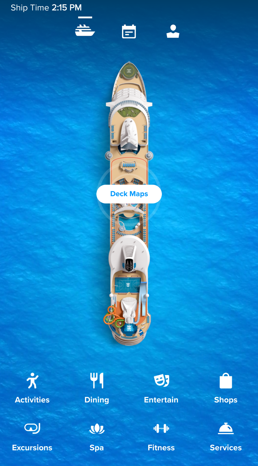 Royal Caribbean International App with Freedom of the Seas