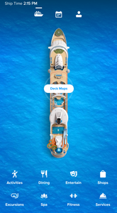 Royal Caribbean International App with Freedom of the Seas