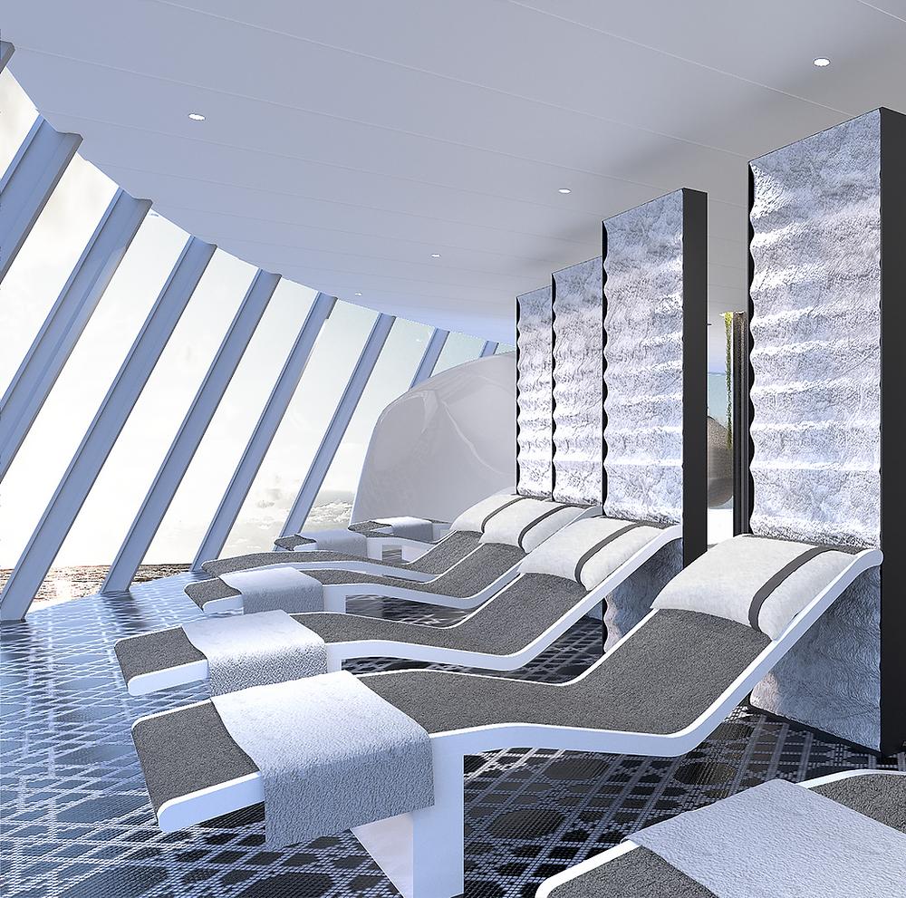 Lounge onboard Celebrity Edge