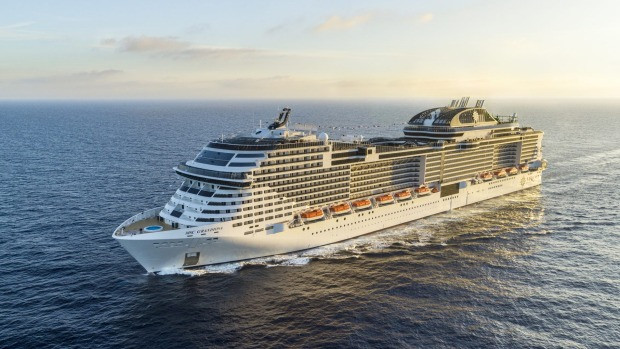 MSC Grandiosa is the first ship to sail from italy in 5 months