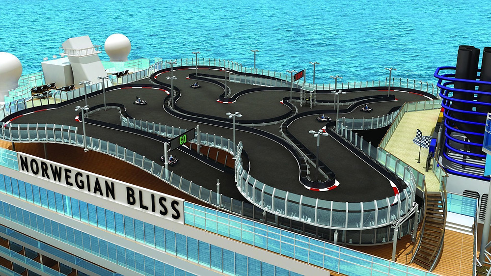 Go Kart Track: Bliss Photo Credit: Norwegian Cruise Line
