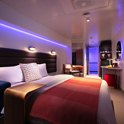 Virgin Voyages Cabin day view from terra