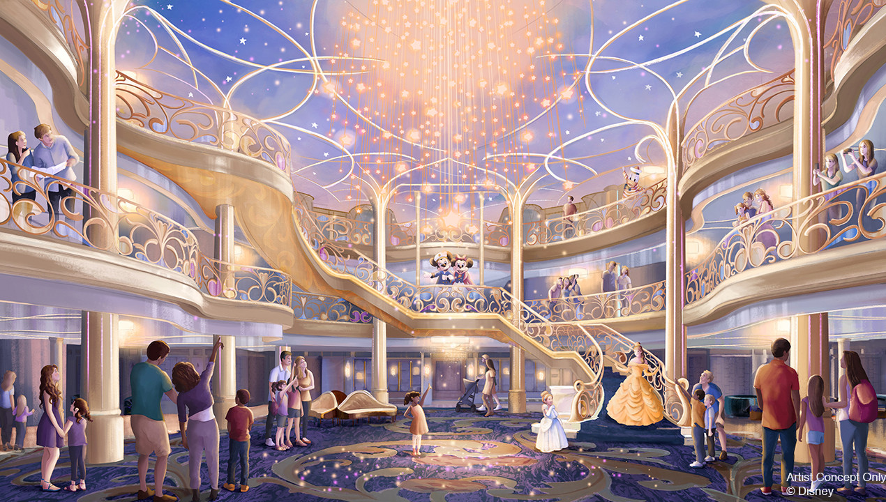 DCL Wish Atrium | Disney
