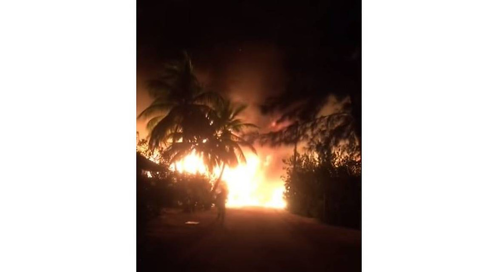 Princess Cay Fire