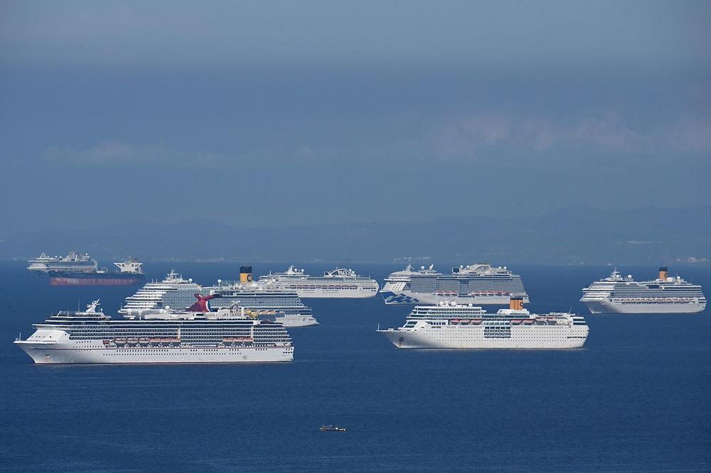 Cruise Ships Laid up in Malina Bay