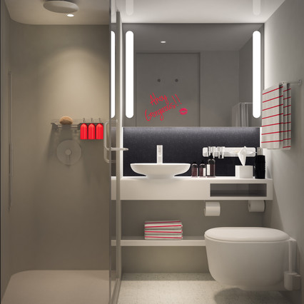 Virgin Voyages Cabin Roomy Rain Shower